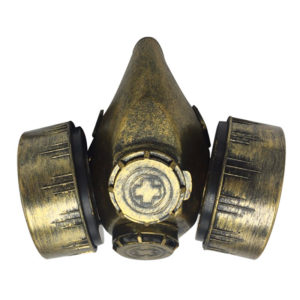 Steampunk Dubbel Gasmask - One size