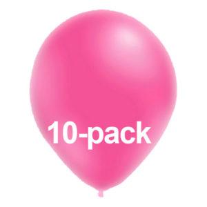 Stora Ballonger Neonrosa - 10-pack