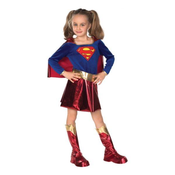 Supergirl Deluxe Barn Maskeraddräkt - Large