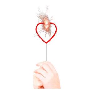 Tomtebloss Rött Hjärta