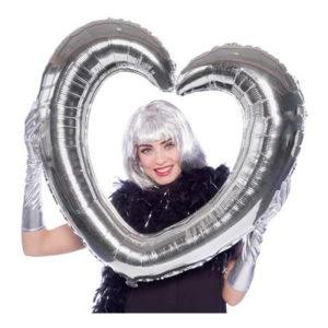 Uppblåsbar Selfieram Hjärta Silver