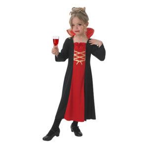 Vampyra Klänning Barn Maskeraddräkt - Large