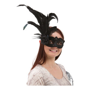 Venetiansk Ögonmask med Fjädrar - One size