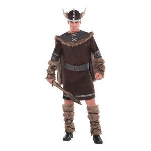 Viking Krigare Brun Maskeraddräkt - X-Large