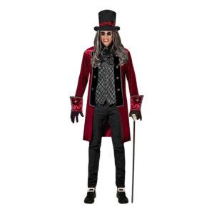 Viktoriansk Vampyr Halloween Maskeraddräkt - Medium