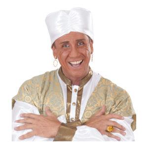 Vit Turban Hatt