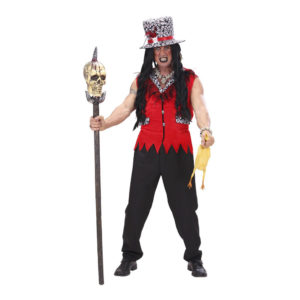 Voodoo Präst Röd Maskeraddräkt - One size