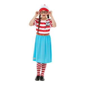 Where's Wally Wenda Deluxe Barn Maskeraddräkt - Medium