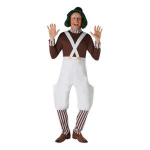 Willy Wonka Oompa Loompa Maskeraddräkt - Large