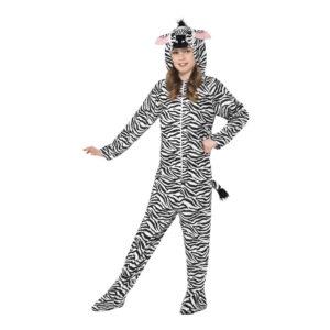 Zebra Barn Maskeraddräkt - Medium