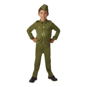 40-tals Soldat Barn Maskeraddräkt - X-Large