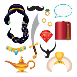 Arabian Nights Foto Props - 13-pack