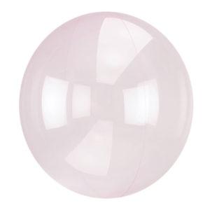 Ballong Crystal Clearz Ljusrosa