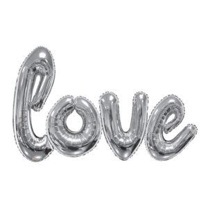 Ballonggirlang Love Silver