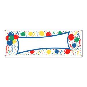 Banner med Ballonger Flerfärgad