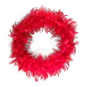 Fjäderkrans Röd - 30 cm