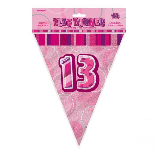 Flaggirlang Rosa 13