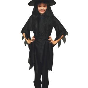 Häxklänning med hatt barn-L