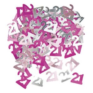 Konfetti Rosa/Silver 21 - 14 gram