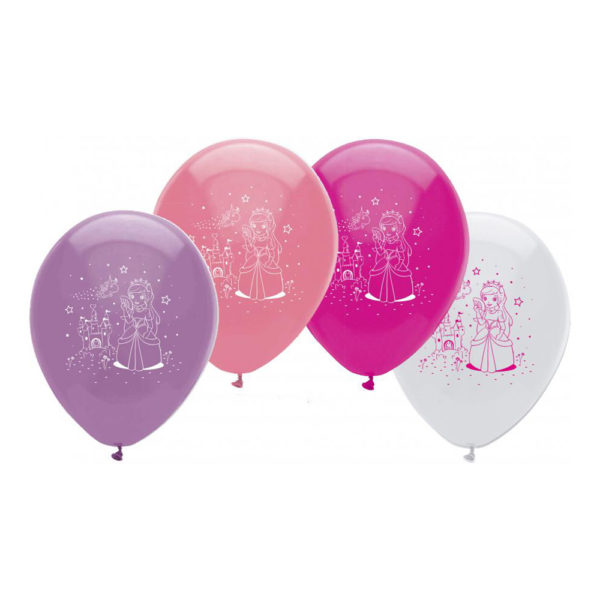 Latexballonger med Prinsessor - 10-pack