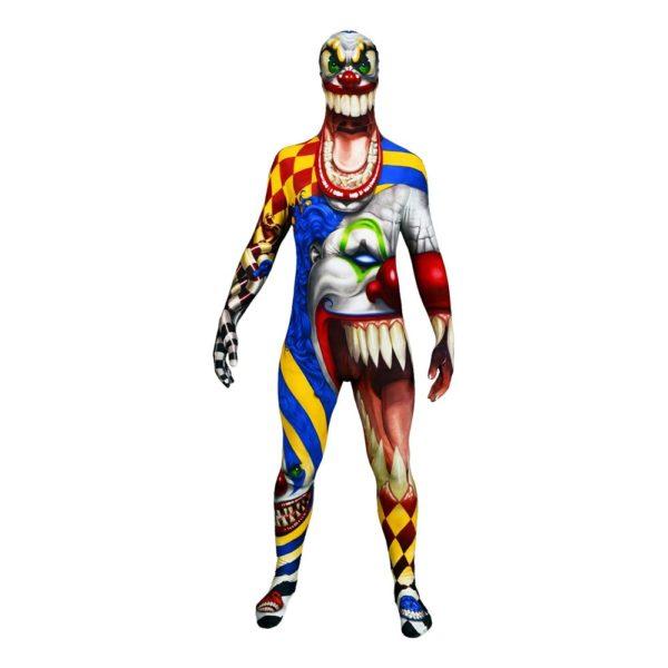 Morphsuit Scary Clown Maskeraddräkt - Medium