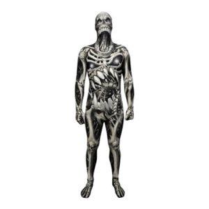 Morphsuit Skull & Bones Maskeraddräkt - X-Large