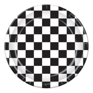 Papperstallrikar Schackrutig - 8-pack