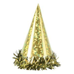 Partyhattar Hologram Guld - 6-pack