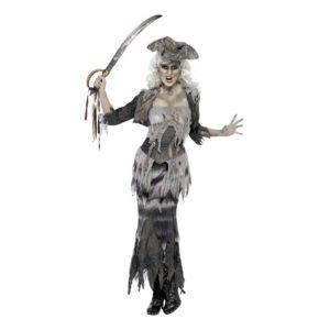 Pirattjej Halloween Maskeraddräkt - Medium