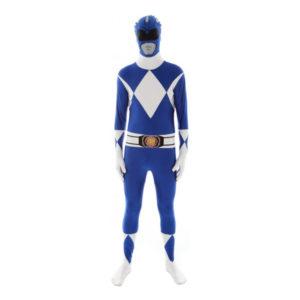 Power Ranger Blå Morphsuit - Medium