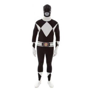 Power Ranger Svart Morphsuit - XX-Large