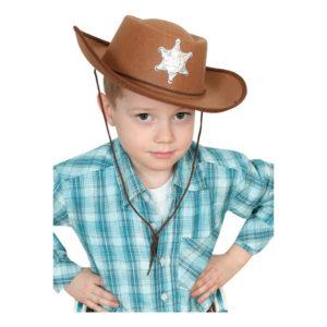 Sheriffhatt Brun för Barn - One size