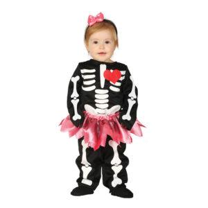 Skelett Klänning Bebis Maskeraddräkt - 6-12 månader