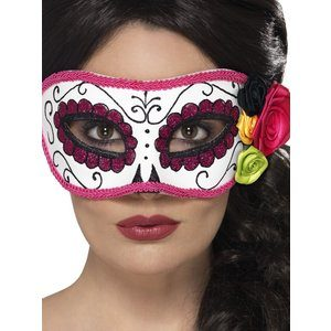 Ögonmask med rosor - flerfärgad