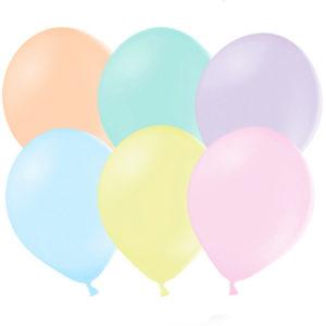 10 pack Pastellballonger
