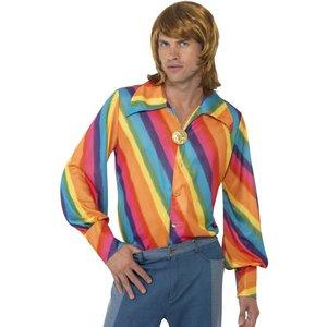 1970-tals Regnbågsskjorta maskeraddräkt