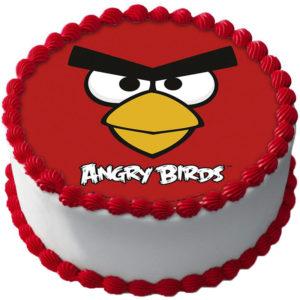 Angry Birds Tårtbild Oblat A