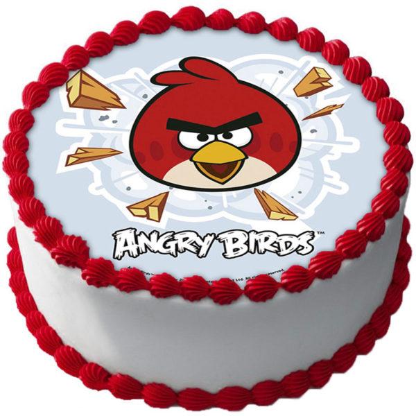 Angry Birds Tårtbild Oblat B