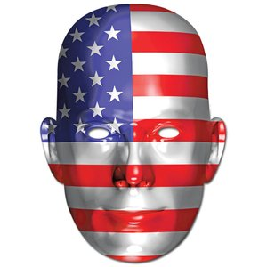 Ansiktsmask amerikanska flaggan