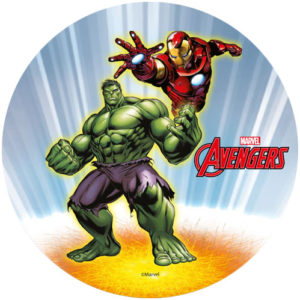 Avengers Hulken och Iron Man, tårtbild