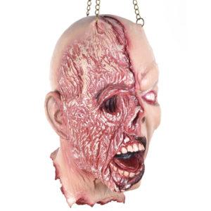 Avhugget Zombiehuvud med Brännskada