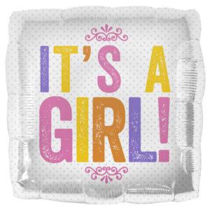 Baby Shower Ballong Folie It's A Girl