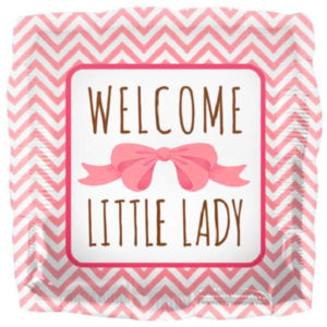 Baby Shower Ballong Folie Welcome Little Lady