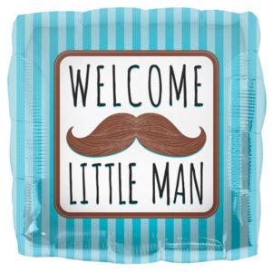 Baby Shower Ballong Folie Welcome Little Man
