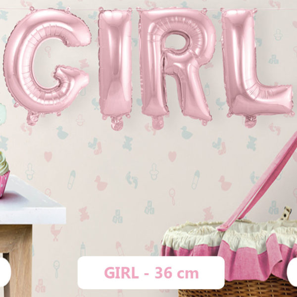 Baby Shower Girl Ballonger Folie