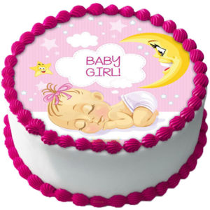 Babyshower Flicka Tårtbild A