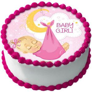Babyshower Flicka Tårtbild B