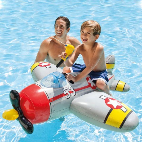 Badmadrass Flygplan med Vattenpistol för Barn