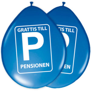 Ballonger Grattis Till Pensionen