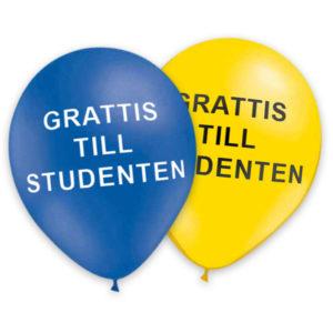Ballonger Grattis Till Studenten (10-pack)